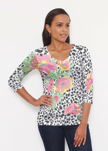 Spring Leopard (14225) ~ Signature 3/4 V-Neck Shirt