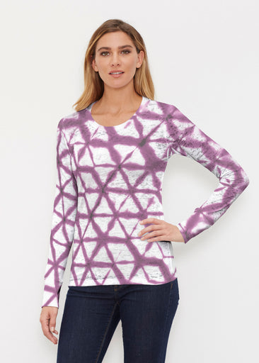 Tie Dye Web (14228) ~ Thermal Long Sleeve Crew Shirt