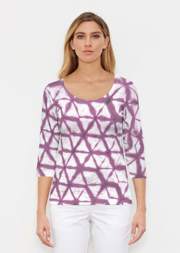 Tie Dye Web (14228) ~ Signature 3/4 Sleeve Scoop Shirt