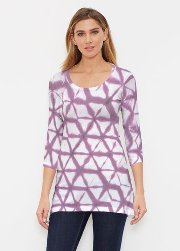 Tie Dye Web (14228) ~ Buttersoft 3/4 Sleeve Tunic
