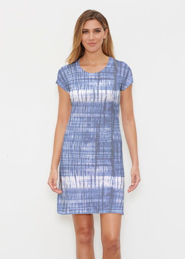 Denim Tie Dye (14230) ~ Classic Crew Dress