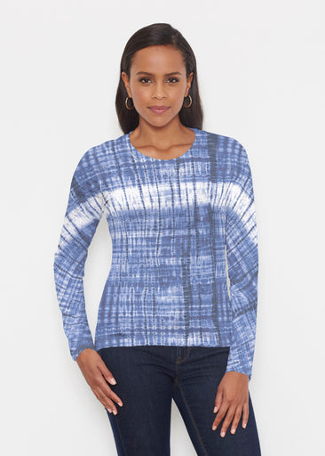 Denim Tie Dye (14230) ~ Signature Long Sleeve Crew Shirt