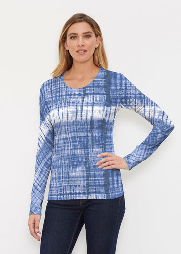 Denim Tie Dye (14230) ~ Thermal Long Sleeve Crew Shirt