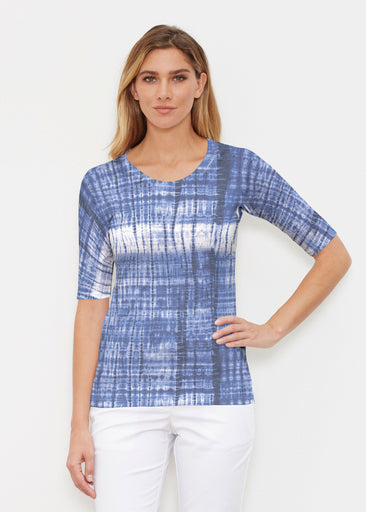 Denim Tie Dye (14230) ~ Signature Elbow Sleeve Crew Shirt