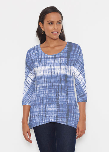 Denim Tie Dye (14230) ~ Katherine Hi-Lo Thermal Tunic