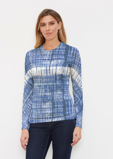 Denim Tie Dye (14230) ~ Butterknit Long Sleeve Crew Top