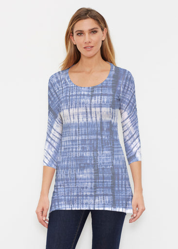 Denim Tie Dye (14230) ~ Buttersoft 3/4 Sleeve Tunic