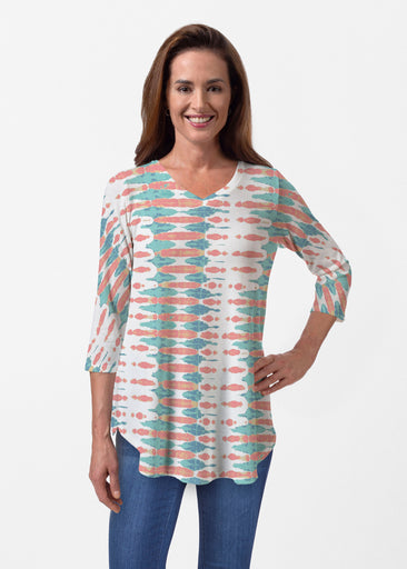Ink Blot (14245) ~ Butterknit V-neck Flowy Tunic