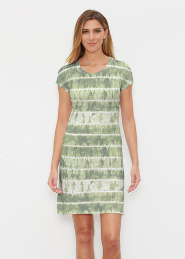 Striation Green (14250) ~ Classic Crew Dress