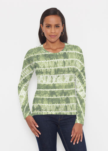 Striation Green (14250) ~ Signature Long Sleeve Crew Shirt