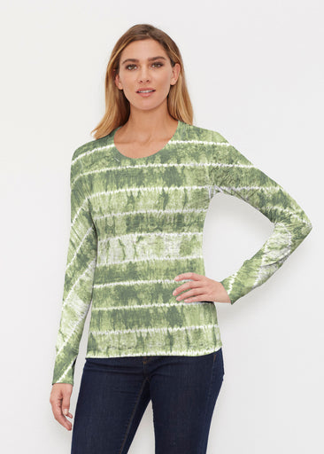 Striation Green (14250) ~ Thermal Long Sleeve Crew Shirt