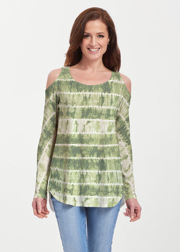 Striation Green (14250) ~ Butterknit Cold Shoulder Tunic