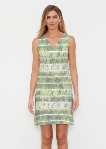 Striation Green (14250) ~ Classic Sleeveless Dress