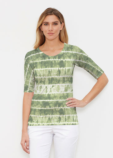 Striation Green (14250) ~ Signature Elbow Sleeve Crew Shirt