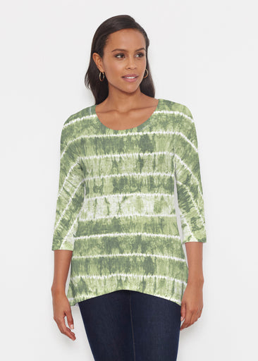 Striation Green (14250) ~ Katherine Hi-Lo Thermal Tunic
