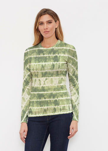 Striation Green (14250) ~ Butterknit Long Sleeve Crew Top