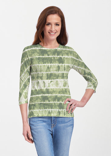 Striation Green (14250) ~ Premium 3/4 Sleeve Crew