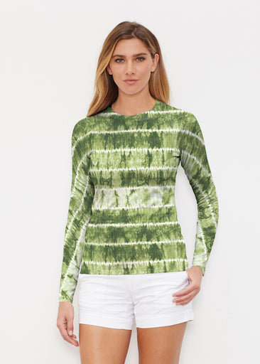 Striation Green (14250) ~ Long Sleeve Rash Guard