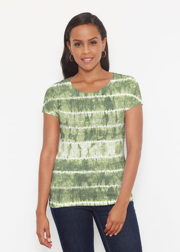 Striation Green (14250) ~ Signature Short Sleeve Scoop Shirt