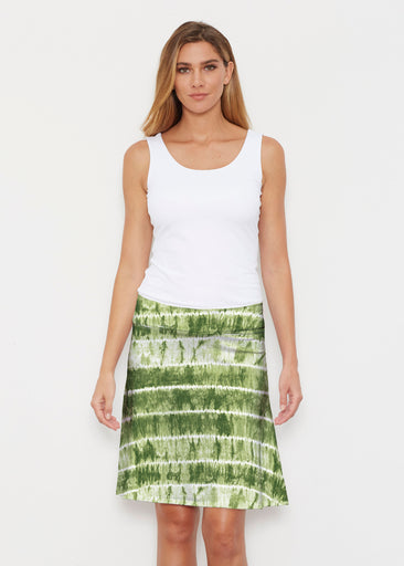 Striation Green (14250) ~ Silky Brenda Skirt 21 inch
