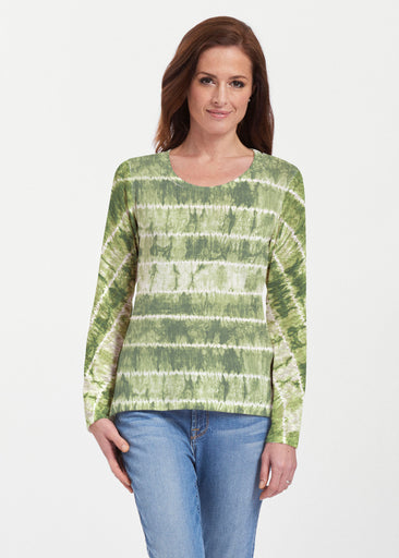 Striation Green (14250) ~ Texture Mix Long Sleeve