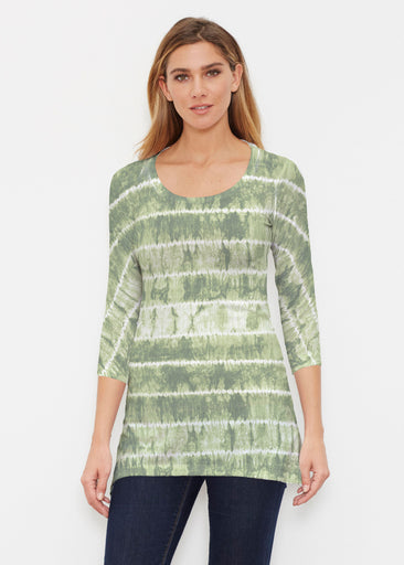 Striation Green (14250) ~ Buttersoft 3/4 Sleeve Tunic