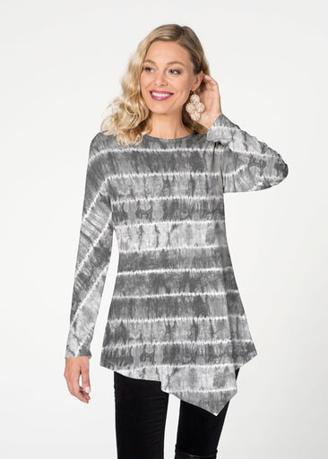 Striation Grey (14251) ~ Asymmetrical French Terry Tunic