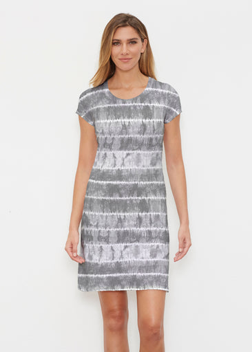 Striation Grey (14251) ~ Classic Crew Dress
