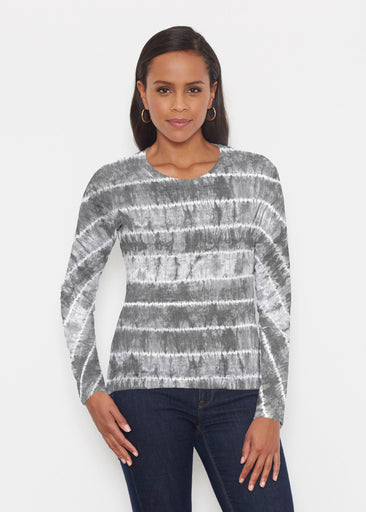 Striation Grey (14251) ~ Signature Long Sleeve Crew Shirt