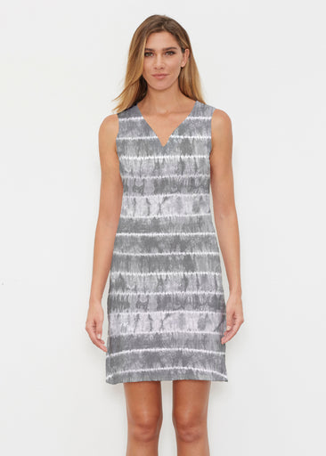 Striation Grey (14251) ~ Classic Sleeveless Dress