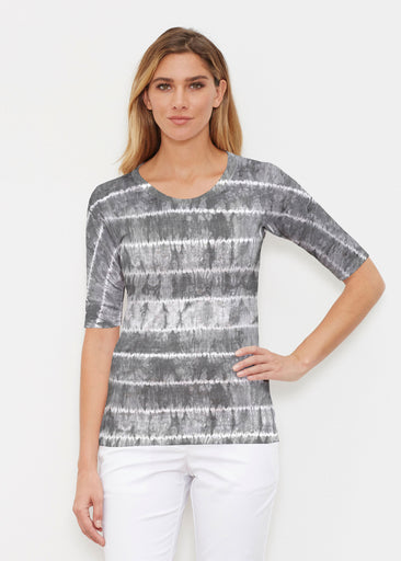 Striation Grey (14251) ~ Signature Elbow Sleeve Crew Shirt