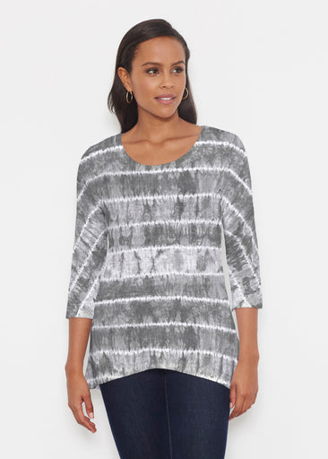 Striation Grey (14251) ~ Katherine Hi-Lo Thermal Tunic