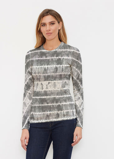 Striation Grey (14251) ~ Butterknit Long Sleeve Crew Top