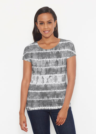 Striation Grey (14251) ~ Signature Short Sleeve Scoop Shirt
