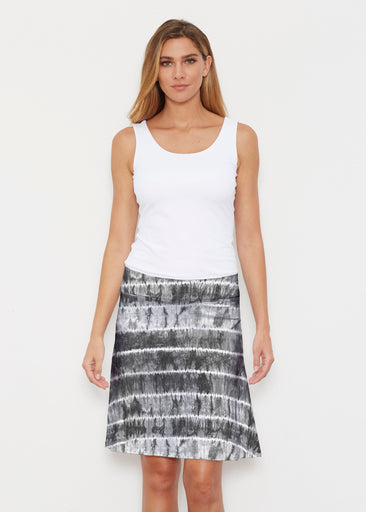 Striation Grey (14251) ~ Silky Brenda Skirt 21 inch