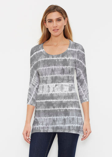 Striation Grey (14251) ~ Buttersoft 3/4 Sleeve Tunic