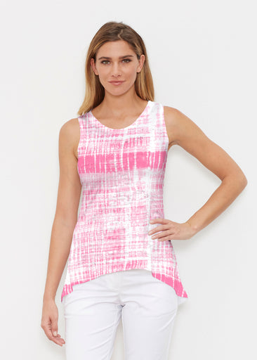 Pink Tie Dye (14254) ~ Signature High-low Tank