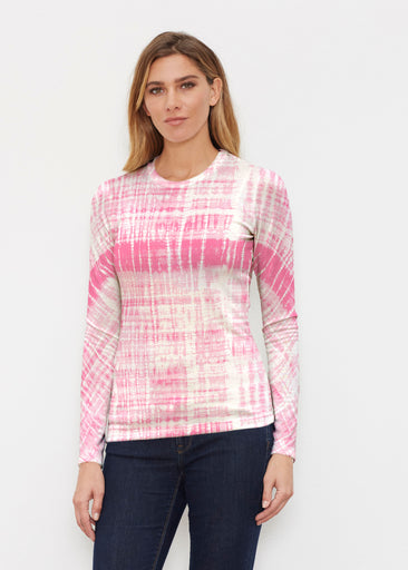 Pink Tie Dye (14254) ~ Butterknit Long Sleeve Crew Top