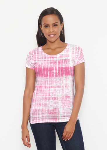 Pink Tie Dye (14254) ~ Signature Short Sleeve Scoop Shirt