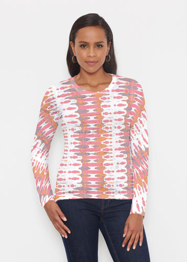 Ink Blot Pink (14255) ~ Signature Long Sleeve Crew Shirt