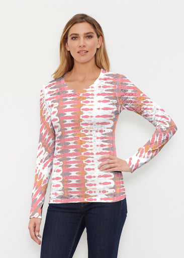 Ink Blot Pink (14255) ~ Thermal Long Sleeve Crew Shirt