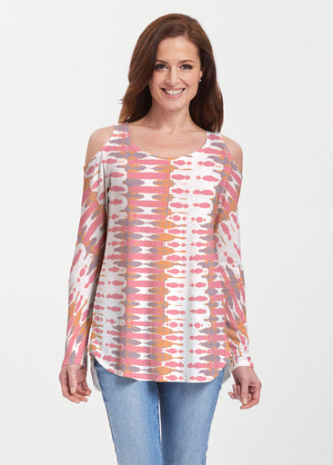 Ink Blot Pink (14255) ~ Butterknit Cold Shoulder Tunic