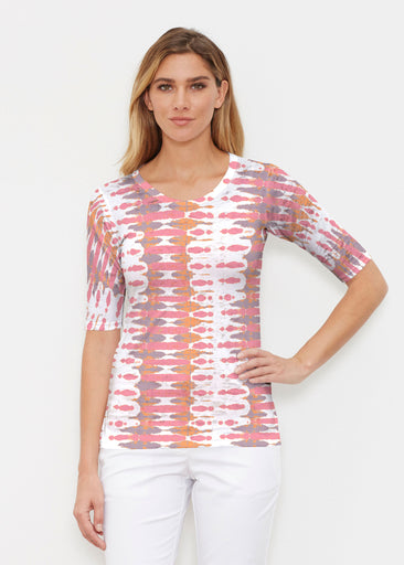 Ink Blot Pink (14255) ~ Signature Elbow Sleeve Crew Shirt