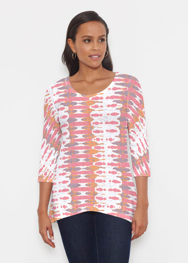 Ink Blot Pink (14255) ~ Katherine Hi-Lo Thermal Tunic