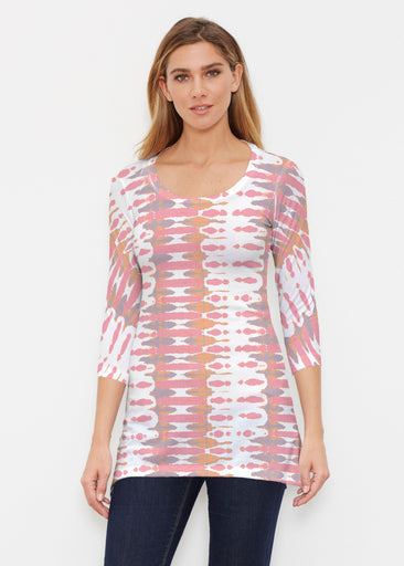 Ink Blot Pink (14255) ~ Buttersoft 3/4 Sleeve Tunic