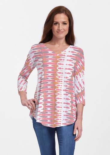 Ink Blot Pink (14255) ~ Signature V-neck Flowy Tunic