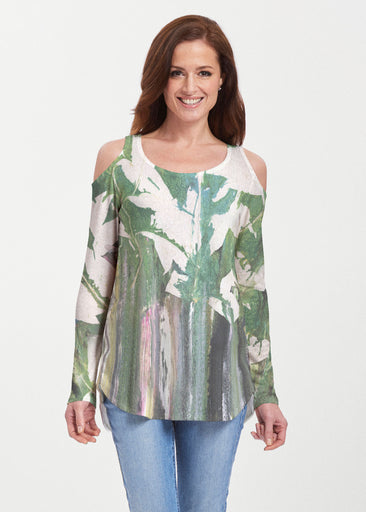 Renewal Green (15005) ~ Cold Shoulder Tunic