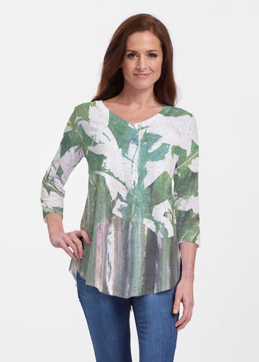 Renewal Green (15005) ~ V-neck Flowy Tunic