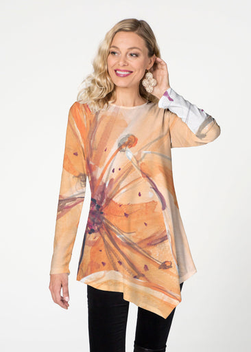 Tiger Lily (15021) ~ Asymmetrical French Terry Tunic