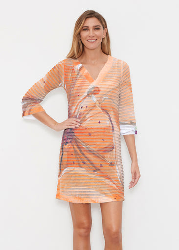 Tiger Lily (15021) ~ Banded 3/4 Sleeve Cover-up Dress
